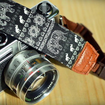 iMo Elephant (night) camera strap suits for DSLR / SLR with quick release buckles