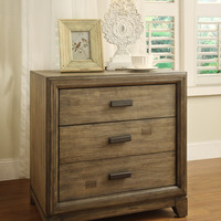 Lammers Transitional 2-Drawer Nightstand in Natural Ash