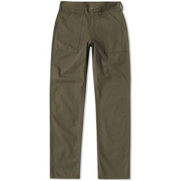 TAPER FIT 4 POCKET FATIGUE PANTS - OLIVE RIPSTOP