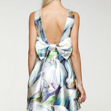 Magical Watercolor Bow Dress