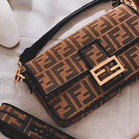 Fendi Baguette wide shoulder strap bag bag shoulder bag crossbody bag