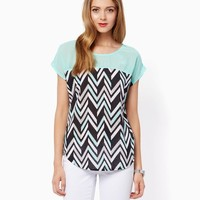 Dayna Chevron Tee | Fashion Apparel and Clothing - Tops | charming charlie