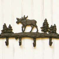 Cast Iron Moose Wall Hook - Choose your Color - Colorful Cast and Crew