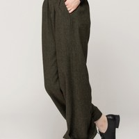High rise straight trousers
