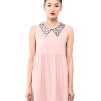 Debb: Spangle collar mini dress