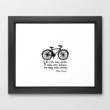 Life is like riding a bicycle... Framed Art Print by Macrobioticos