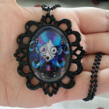 Zombie Girl - Necklace - Halloween