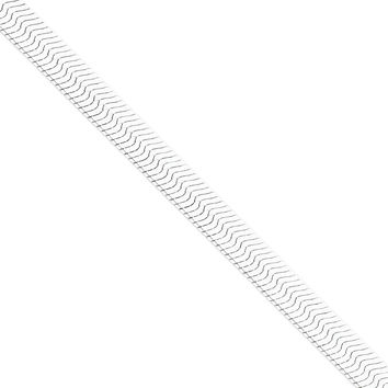 925 Sterling Silver 8.75mm Wide Solid and Polished Herringbone Chain Bracelet: Size: 8