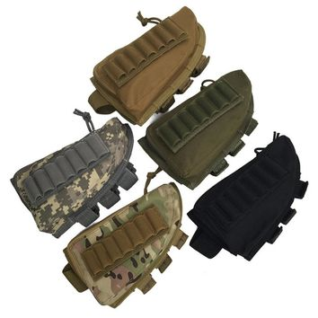 Mounchain Holster Excellent Nylon Buttstock Shell Pouch Zippered Pouch Ammo Bullet Bag Cartridge Holder Shooting Tool Holster