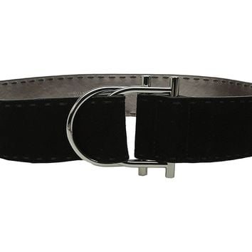 MICHAEL Michael Kors 50mm Suede Leather Black Belt X-Large