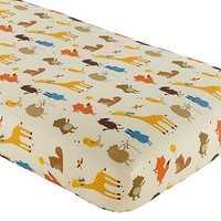 Bright Eyed Crib Fitted Sheet in Crib Fitted Sheets   The Land of Nod