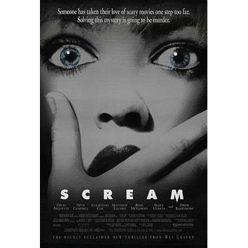 Scream Movie poster Metal Sign Wall Art 8in x 12in