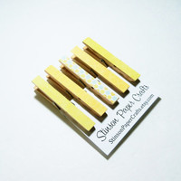 Pretty Magnets | Clothespin Magnets | Neodymium Magnets | Kitchen Clips | Fridge Magnets | Magnet Clips | Yellow Magnets | Coworker Gift