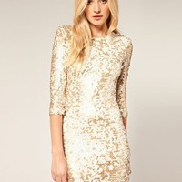 French Connection | French Connection All Over Sequin Body-Conscious Dress at ASOS