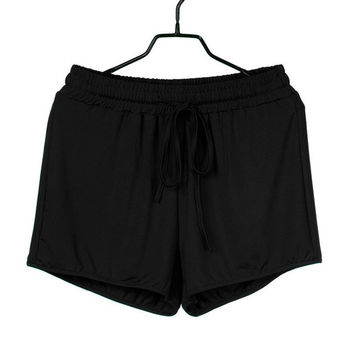 Womens  Casual Loose Shorts Women  Solid Elastic High Waist Ladies  Short Pants Shorts Femme #63 BL