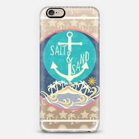 Turquoise Aqua Island Anchor Salt Sand iPhone 6 case by Famenxt | Casetify