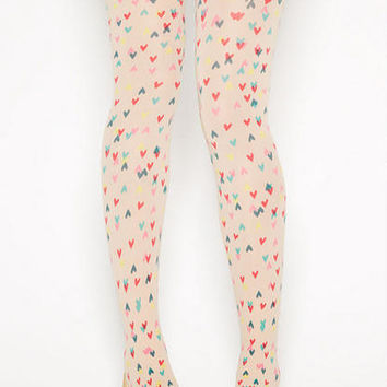 Mini Heart Tattoo Tights