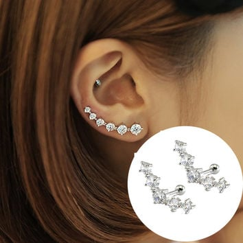 Stud Earrings For Women Ear Climber Clip Cuffs Earrings
