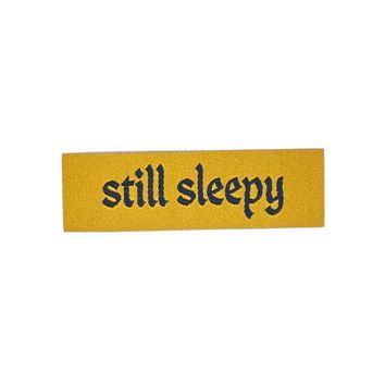 Still Sleepy Tiny Woven Patch