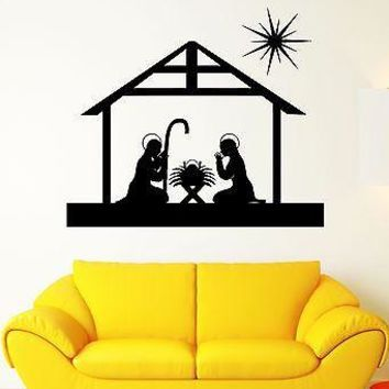 Wall Sticker Religion Christianity Christmas Art Mural Vinyl Decal Unique Gift (ig1935)