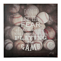 Sports Quotes I Canvas Art Print