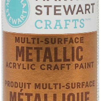 metallic acrylic craft paint, copper