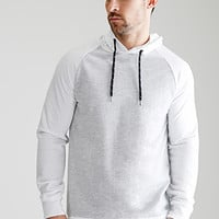 Heathered Colorblock Raglan Hoodie