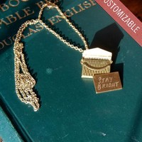Custom Engraved Love Letter Necklace