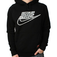 Nike Men's Knows AW77 Mesh Pullover Football Hoodie