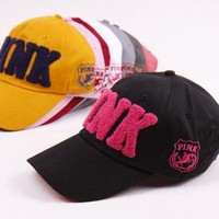 ONETOW VICTORIA¡¯S SECRET PINK Leisure sports baseball cap embroidery Hat Visor duckbill peaked cap Tagre?