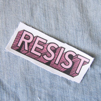 "Pink ""Resist"" Quote Patch"