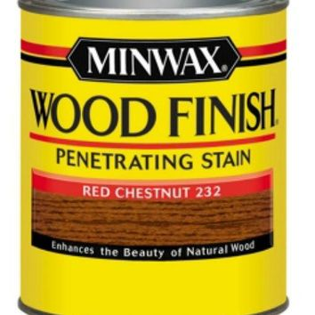 Minwax® 70046 Wood Finish™ Penetrating Wood Stain, Red Chestnut (232), 1 Qt