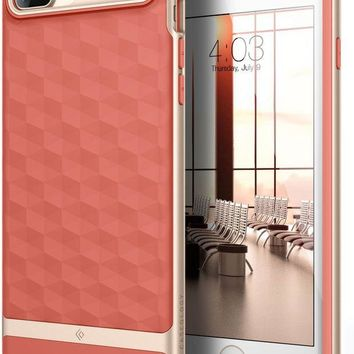VONEXO9 Caseology Parallax Series iPhone 7 Plus / 8 Plus Cover Case with Design Slim Protective for Apple iPhone 7 Plus (2016) / iPhone 8 Plus (2017) - Coral Pink