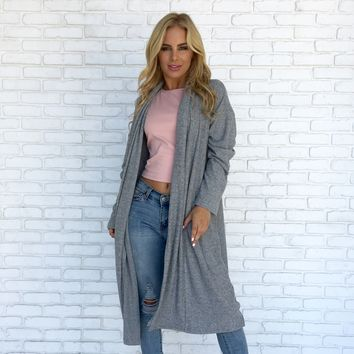 Sweeter Than Sugar Cardigan in Grey