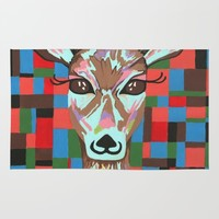 Darling Deer Rug by Kathleen Sartoris