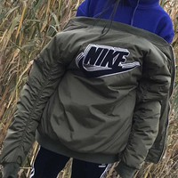nike fashion women men trending bomber jacket