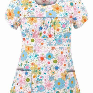 White Cross 681-SCD Scoop Neck Scrub Top | Print Scrub Tops