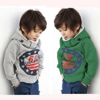 Fashion Cartoon 6 8 Baby Boys Kids Coat Hoodie Jacket Sweater Pullover Outwear [9305890375]
