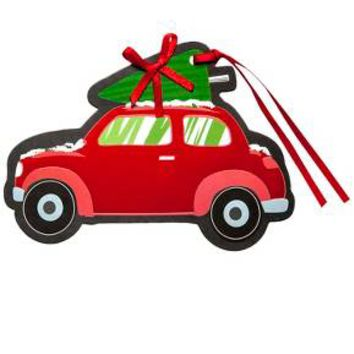 6ct Car with Tree Premium Gift Tag Set - Wondershop™