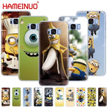 HAMEINUO Mike Wazowski minions banana cell phone case cover for Samsung Galaxy S9 S7 edge PLUS S8 S6 S5 S4 S3 MINI