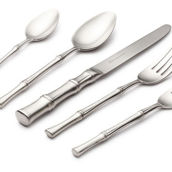 5-Pc Bamboo Satin Place Setting, Flatware Place Settings