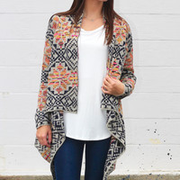 Southwest Tribe Knit Cardigan {Taupe Mix}
