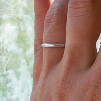 Peaked Style Sterling Silver Stacking Ring - custom made to any size .