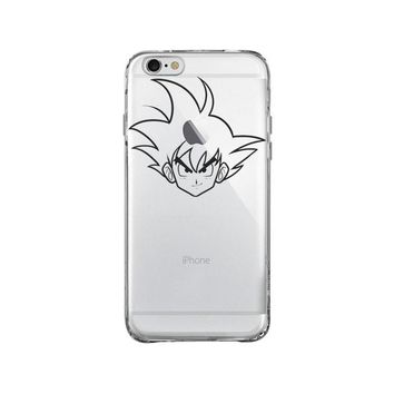 DRAGON BALL Z GOKU FACE iPhone and Samsung Galaxy Clear Case