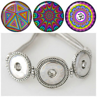 Noosa style BRACELET plus 3 Chunk Charms that are interchangeable with pendants & rings