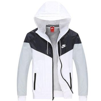 """NIKE"" Stylish Women Men Hoodie Zipper Cardigan Sweatshirt Jacket Coat Windbreaker I"