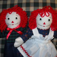 15 inch Raggedy Ann and Andy Doll Set