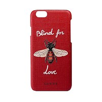GUCCI Fashion Honeybee Print iPhone Phone Cover Case For iphone 6 6s 6plus 6s-plus 7 7plus