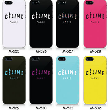 Celine paris collection phone case, iPhone 5 5S case, iPhone 4 4S case, Text phone case Free shipping M525-M532