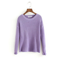 Plain Crochet Knitted Sweater